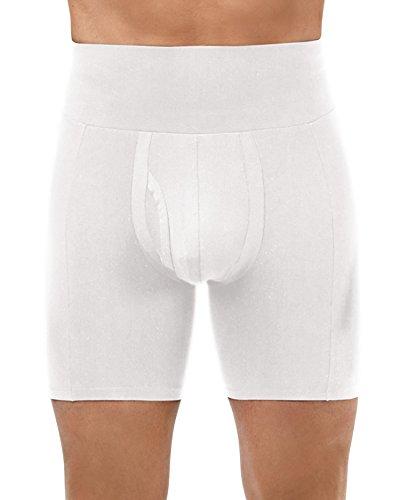 Spanx Für Männer Schlankes Taille kurze Boxer – Spanx For Men Slim Waist Boxer Brief (Small - klein, White - Weiß)
