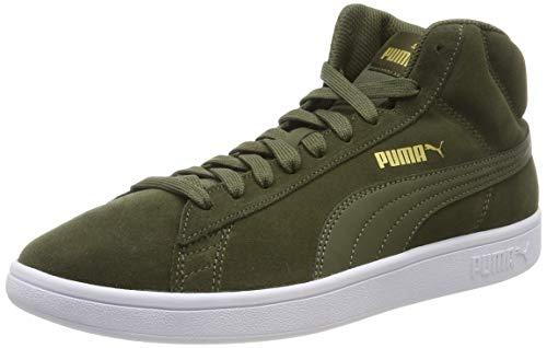 Puma Unisex-Erwachsene Smash v2 Mid SD Hohe Sneaker, Braun (Forest Night Team Gold White Black 06), 5 EU Mid Sneaker
