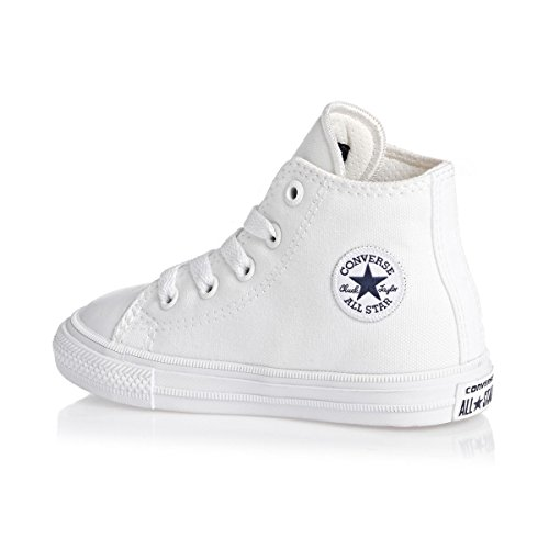 Converse Chuck Taylor All Star II Hi White Textile Baby Trainers white