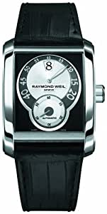 Raymond Weil Men's Automatic Watch with Black Dial Analogue Display and Black Leather Strap 4400-STC-00268
