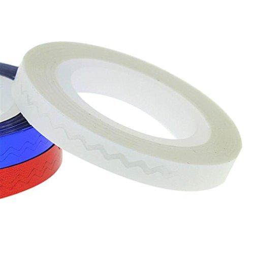 Susenstone DIY uñas rollos cinta de rayas consejos de uñas 3D decoración pegatinas regalo (Blanco)