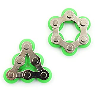 2 Pcs Roller Chain Fidget Toy,Bike Chain Fidget Toys for ADD,ADHD,Anxiety,and Autism by TOYZHIJIA