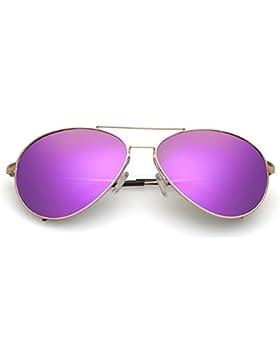 Gafas de sol polarizadas de las señoras/Gafas de sol unisex/Moda color película rana espejo