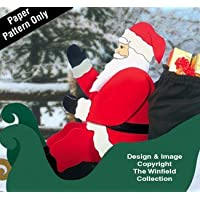 Seated Santa Woodcraft Pattern by Winfield Collection
