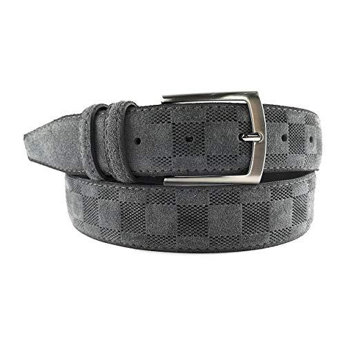 MYB Cintura per uomo camoscio lavorato 35 Vera Pelle Made In Italy diversi colori e taglie disponibili