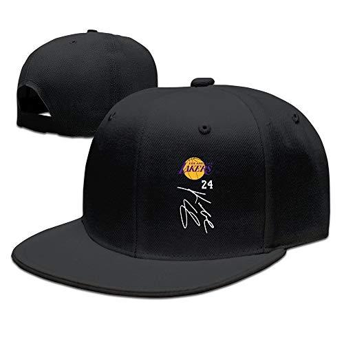 fdgjfghjdfj Adult Kobe Signature Bryant Flat Billed Baseball Caps Hat ForestGreen Black