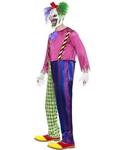 Imagen de traje de payaso asesino disfraz arlequín criminal muerte vestuario alternativa