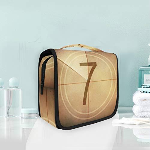 Kosmetiktasche Reise Hängen Kulturbeutel Countdown Lucky Seven Film Bildschirm Reise Aufbewahrungstasche Tragbare Make-Up Tasche Organizer Tasche