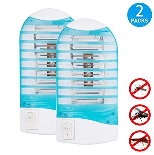 Elektronisch - Led-Mückenfalle und Insektenvernichter-Lampe, Beseitigt Mücken, Fruchtfliegen und Fliegenmücken-Mückenlampe, Blau, BOSS LV