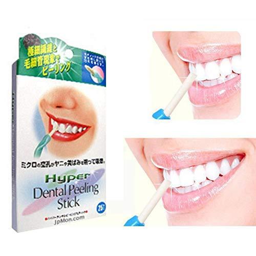 Angmile Teeth Whitening Kit Zahnreinigung Sticks Anti-Kaffee Tee Flecken mit 25 Ersatz Kopf Radiergummi Körperpflege