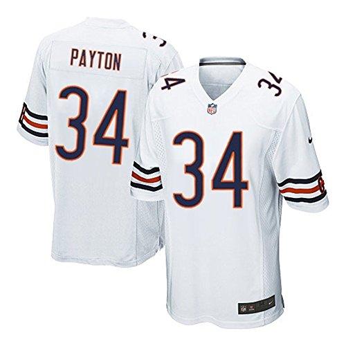 34 Walter Payton Trikot Chicago Bears Jersey American Football Trikot Mens White Size XL(48)