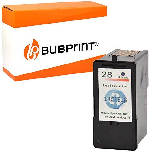 Bubprint Druckerpatrone kompatibel für Lexmark 28 XL 18C1428E für X2500 X2510 X2520 X2530 X2550 X5070 X5490 X5495 Z1300 Z1310 Z1320 Z1350 Z845 Schwarz -