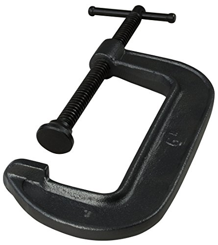 Bessey 540-6 Ductile Alloy Cast Clamp with 6 Capacity x 2 3/4 Throat Depth & 2,450 lb Clamping Force, Black by Bessey -