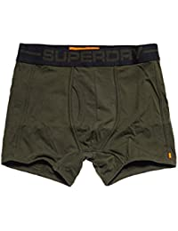 Superdry Sport Boxer Double Pack In Black and Green