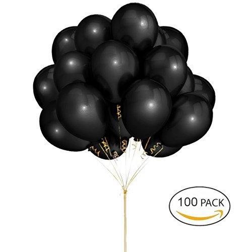 Schwarze Ballons Hoshin Luftballons 12 Zoll verdicken Latex Metallic Ballons 100 Stück für Hochzeitsfeier Babydusche Weihnachten Geburtstag Karneval Party Dekoration Lieferungen (Karneval Party Dekorationen)