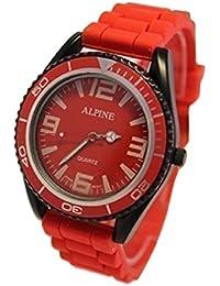 Alpine ALR - Reloj unisex color rojo