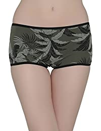 Clovia Cotton Low Waist Tropical Print Boyshorts - (PN2083P17-$P)