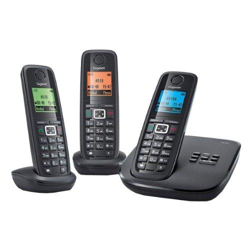 Gigaset A510A TRIO Schnurlostelefon mit Anrufbeantworter (Französische Version)