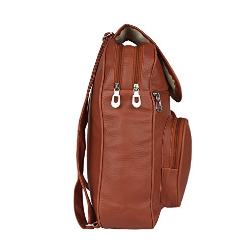 Tarshi Pu Brown Backpack For Women Image 3