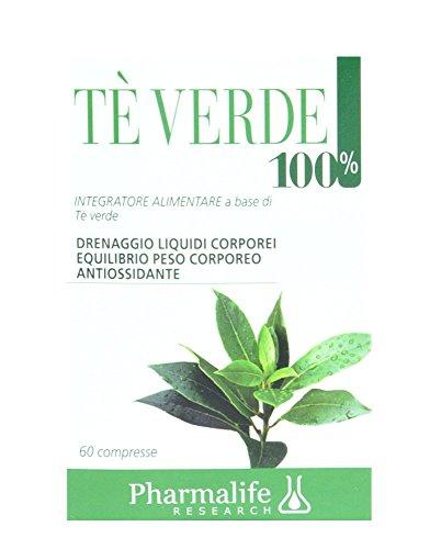 Pharmalife Tè Verde 100%, 60 Compresse