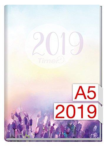 Chäff-Timer Classic A5 Kalender 2019 [Flieder] 12 Monate Jan-Dez 2019 - Terminkalender mit Wochenplaner - Organizer - Wochenkalender
