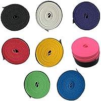 LIOOBO 8 Piezas de Agarre de Raqueta de bádminton sobregrip de bádminton Antideslizante y Absorbente para bádminton pickball Accesorios de Tenis para caña de Pescar