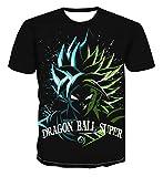 Beiläufiges Kurzarm T-Shirt Dragon Ball Z T-Shirt Herren 3D T-Shirt Super Saiyajin Goku Brolly Gedruckt Top T-Shirt Camiseta Hombre (Farbe : #22, größe : 4XL)