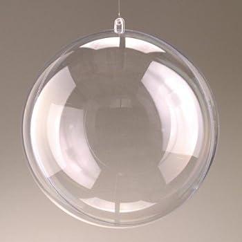 Lot de 5 Boules en plastique cristal transparent séparable, diam. 12 cm