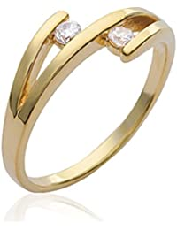 ISADY - Clare Gold - Women's Ring - 750/000 (18 Carat) Gold - Cubic Zirconia