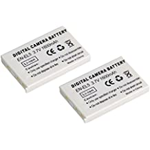 High Capacity - 2 x Rechargeable Battery for Nikon COOLPIX 3700, 4200, 5100, 5200, 5900, 7900, S10, P3, P4, P80, P90, P100, P500, P510, P520, P530, P5000, P5100 and P6000 Digital Cameras - Replacement for Nikon EN-EL5 Battery - AAA Products®