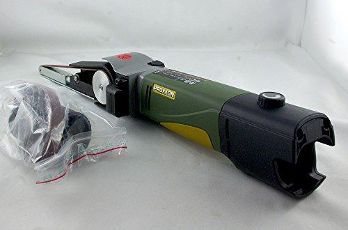 Preisvergleich Produktbild Proxxon 29812 Schleifmaschine / Bandschleifer BS/A und 4 Schleifbänder, Hauptgehäuse aus glasverstärktem Polyamid, Schleifgeschwindigkeit: 200 - 700 m/min