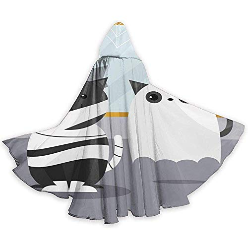 Erwachsene Kostüm Cool Cat Für - BYME Erwachsenen Mantel Unisex Halloween Kostüm Ghost Cat Cosplay Umhang
