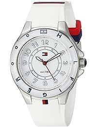 Tommy Hilfiger 1781271, Reloj de Acero Inoxidable con Banda de Silicona Blanca para Mujeres.