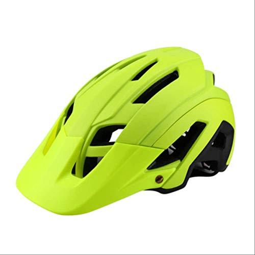 LOVEBIKE Fahrradhelm, New Large Cap-and-Eaves Bike Mountainbike All-Formed Fahrradhelm, können Männer und Frauen Schutzhelme schwarz und gelb Sein