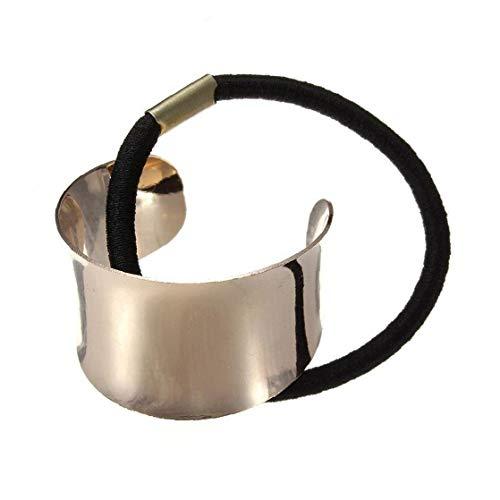 Capelli Durevole In Metallo Tie Creativo Semicerchio Corda Fascia Elastica Dei Capelli Dei Capelli Di Modo Accessori Per Capelli DOro
