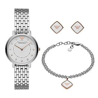 Emporio Armani Reloj Analógico para Mujer de Cuarzo con Correa en Acero Inoxidable AR80023