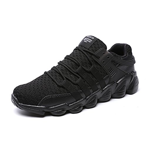 Lightweight Sports Running Shoes Trainers Gym Walking Trainers Fitness for Men/Women,Black,10 UK