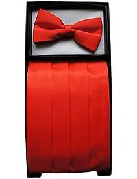 Red Cummerbund & Bow Tie Set Red