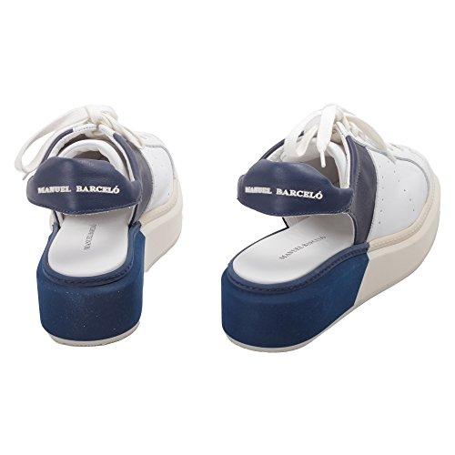 Manuel Barcelo , Damen Gymnastikschuhe weiß blau 30 Weiß Blau