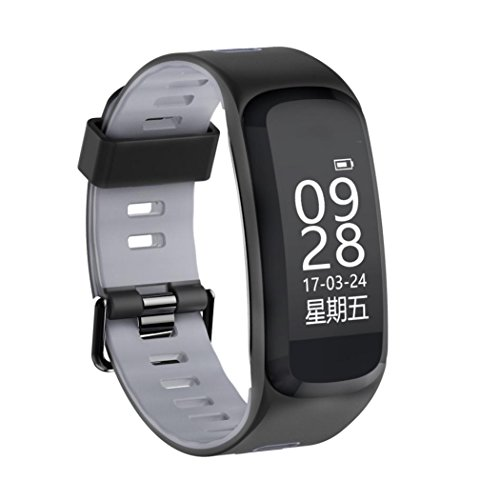 TPulling Mode F4 Bluetooth 4.0 Herzfrequenz Übung Schritt Kalorien Bewegung Smart Watch Sportuhr (grau)