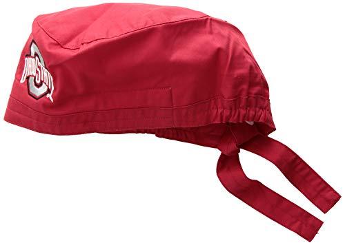 WonderWork Herren Ohio State University Scrub Cap Kappe, Red, Einheitsgröße -