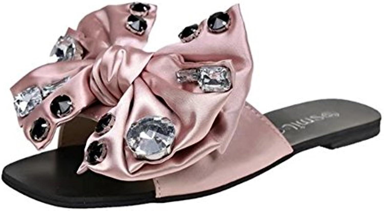 SHINIK Scarpe da donna Tessuto estivo Comfort Pantofole e infradito Scarpe da passeggio Open toe Bowknot per esterno... | adottare  | Scolaro/Signora Scarpa