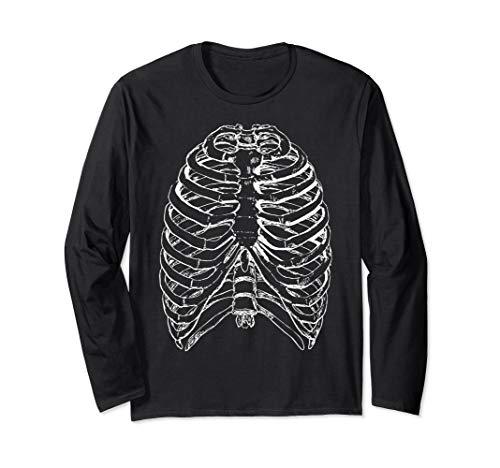Paare Kostüm Einfach Für - Einfache Halloween Kostüm Idee Skelett Röntgen Paare Langarmshirt