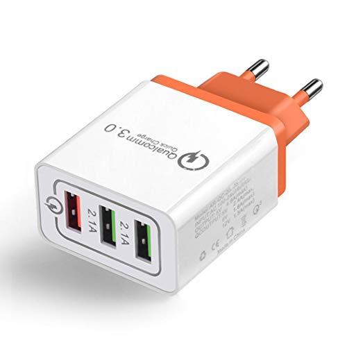 Adattatore per Caricabatterie da Viaggio 3 USB