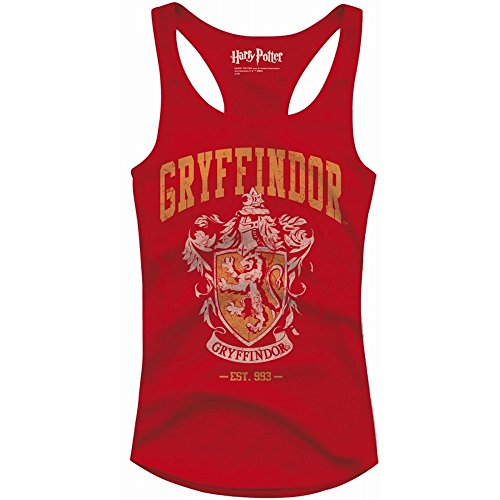 Harry Potter - Damen Tank Top - Gryffindor (Rot) (S-L) (M)