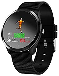 Fitness Tracker Customized Activity Tracker with Heart Rate Monitor Tracker Bluetooth Smartwatch Blood Pressure Oxygen Rate