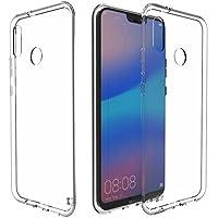 KingShark Huawei P20 Lite Cover, Ultra Caso della Copertura della Cassa [Sottile Sottile] Gomma Flessibile del Gel di TPU Molle del Silicone Pelle Protettiva per Huawei P20 Lite 2018 Trasparente