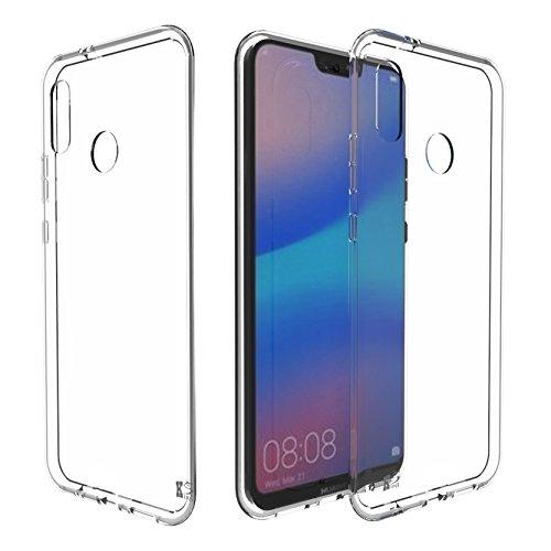 Huawei P20 Lite Hülle Silikon, KingShark TPU Schutzhülle Dünn Schlank Weich Flexibel Anti-Kratzer Schutzhülle Abdeckung Case Cover für Huawei P20 Lite - Transparent