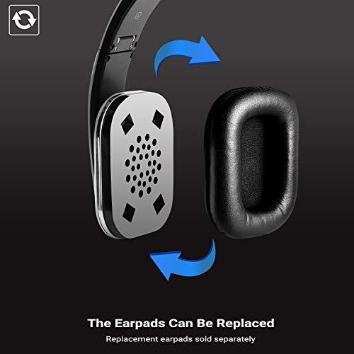 August EP650 Bluetooth v4.2 NFC Kopfhörer mit aptX Low Latency – Kabellose Over-Ear Headphones mit individuellem Sound (silber) - 3