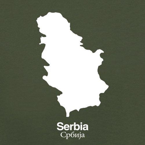 Serbia / Serbien Silhouette - Herren T-Shirt - 13 Farben Olivgrün